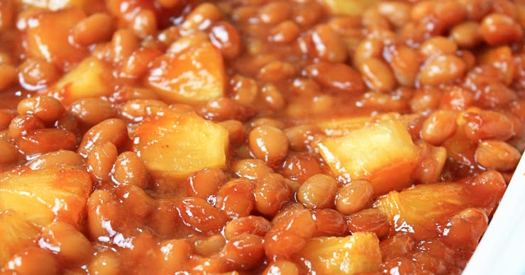Sweet Pineapple Baked Beans | Mostly Homemade Mom