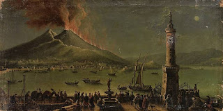 A 17th century painting  shows the 1631 eruption of Vesuvius  that followed just five years after the 1626 Naples earthquake