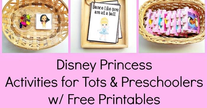 disney princess activities for tots preschoolers w free