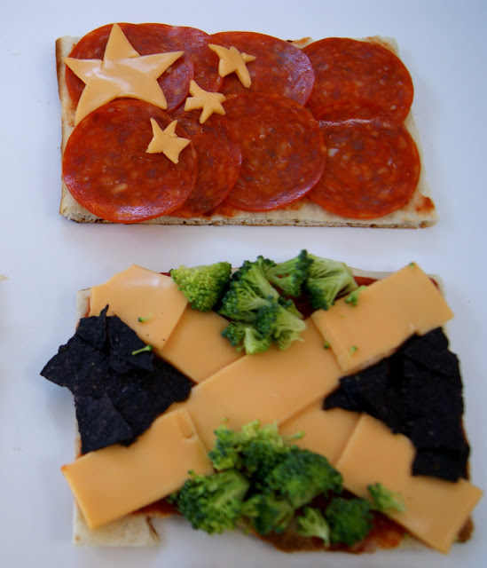 Olympics Flag Pizza Dinner @michellepaigeblogs.com