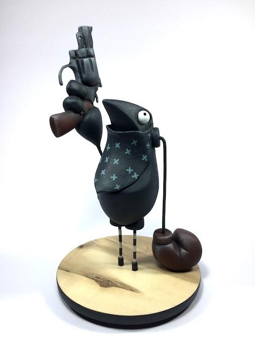 IL DUCA SILVANO in OKENDO KULTUR ETXEA Art Toys Exhibition ART TOYS by IL DUCA SILVANO Artist fromITALY...