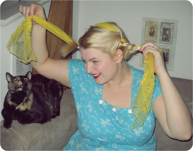 Tutorial: 1940's Ribbon Braid Updo | Va-Voom Vintage with ...