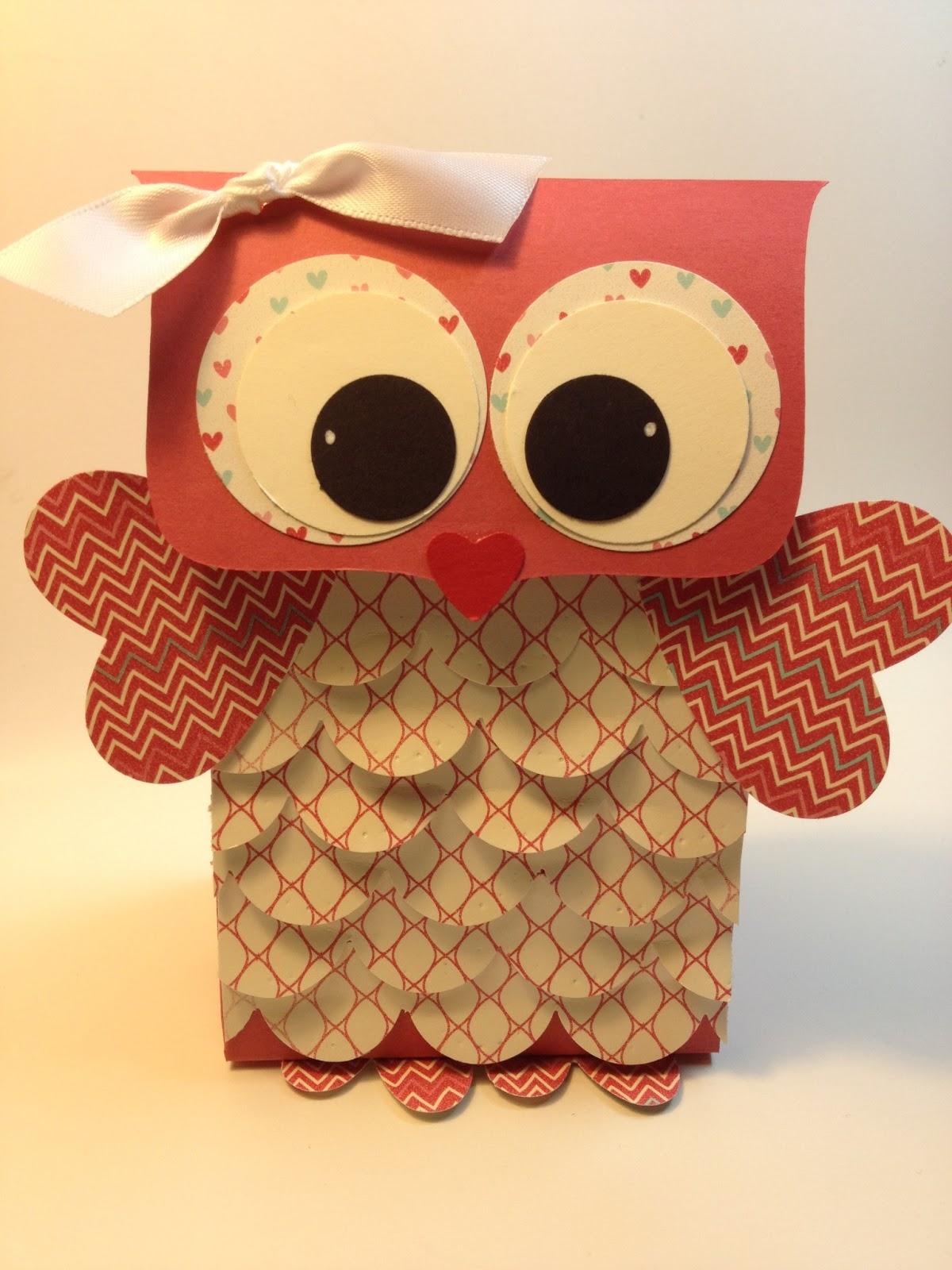 The Paper Hen Owl Valentine T Bag
