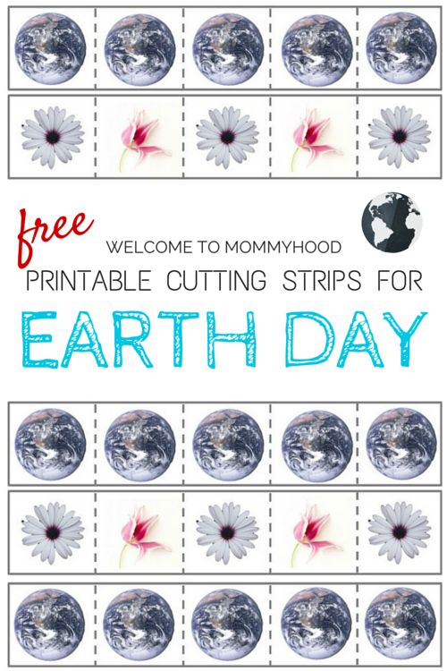 Free Montessori inspired Earth Day Cutting Strips printable by Welcome to Mommyhood #montessori, #preschoolactivities, #montessoriactivities, #earthdayactivities