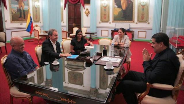 Maduro y Zapatero vuelven a impulsar diálogos con oposición