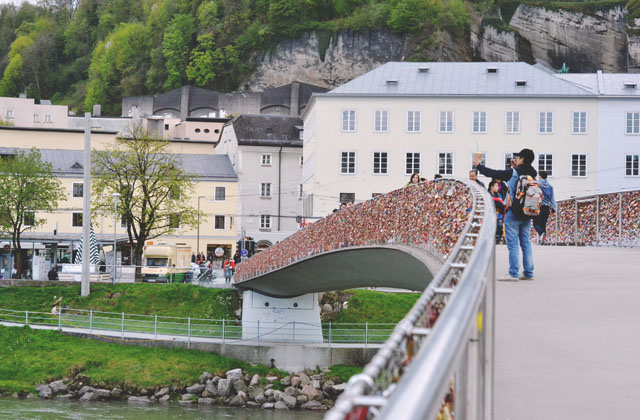 Salzburg Love Lock Bridge