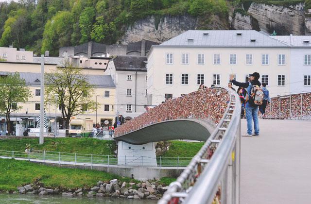 Salzburg Love Lock Bridge