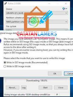 Install Ubuntuk Desktop Menggunakan Flahdisk dengan bantuan Rufus