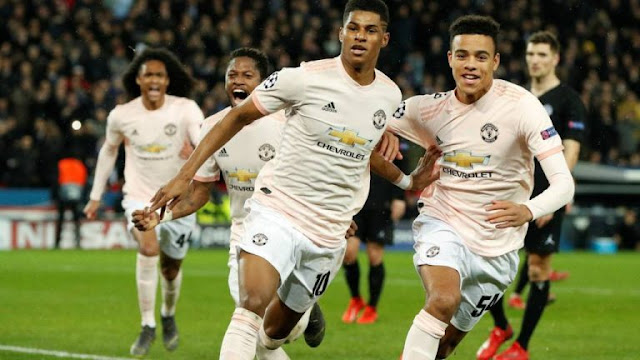 PSG 1 - 3 Manchester United (3-3 on agg):