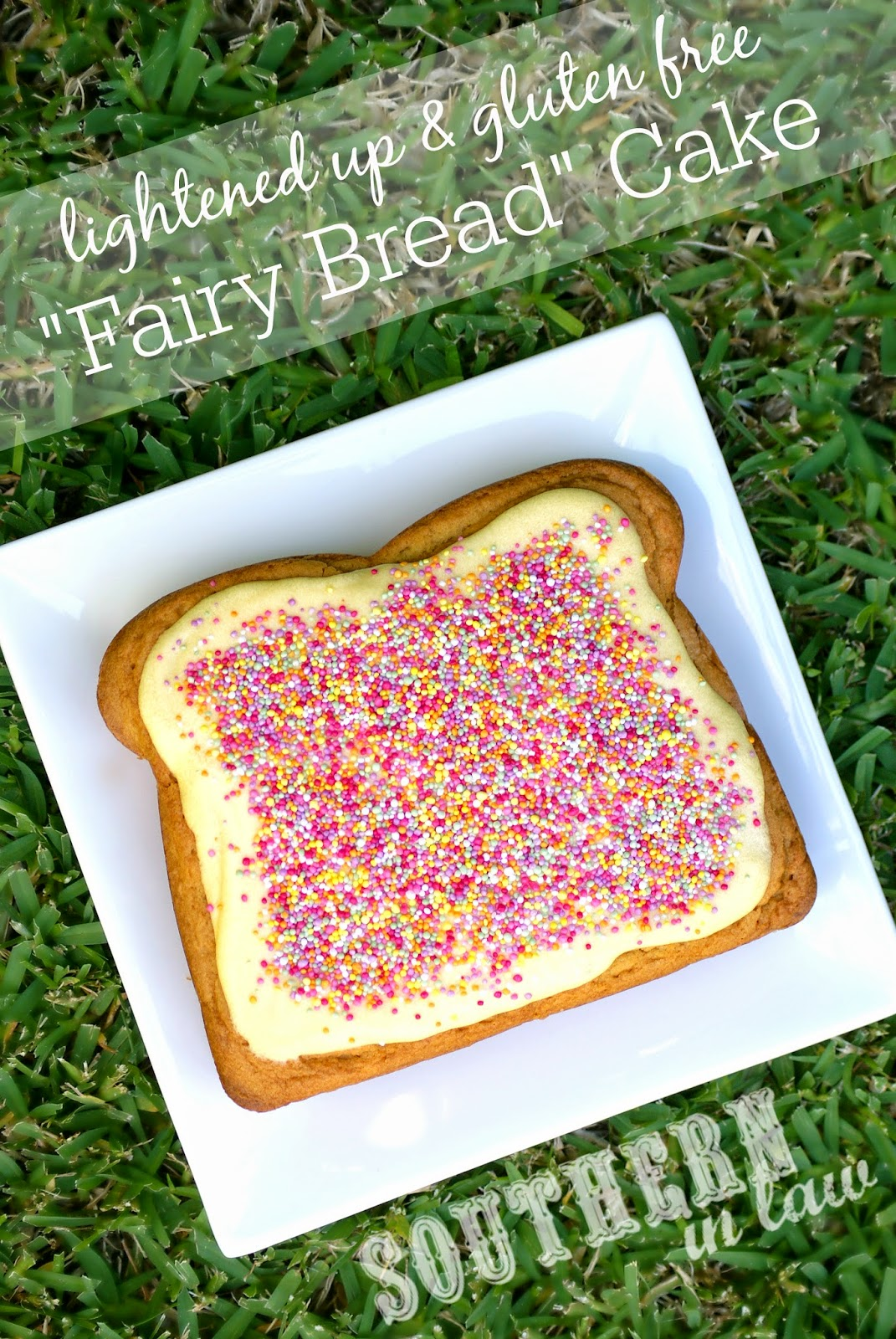Lightened Up Fairy Bread Cake Recipe - Low Fat Butter Cake Recipe - Lower fat, lower sugar, gluten free, kid friendly, healthy kids party recipes, cake recipes