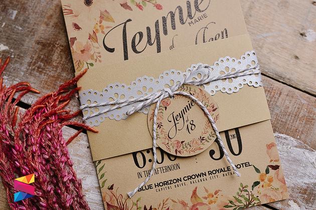 Jeymie Debut Rustic Invitation - Stunro CreativeWorks