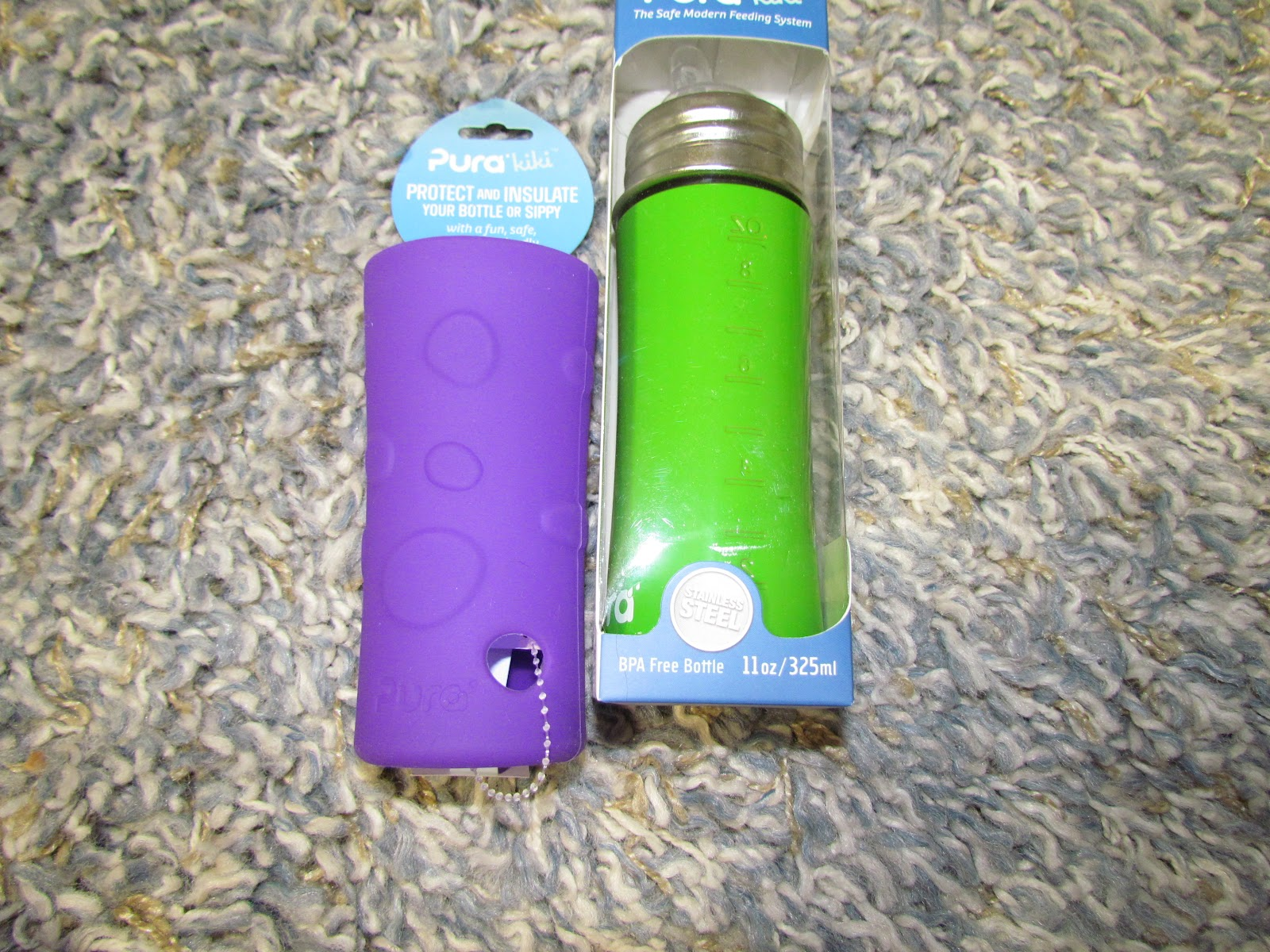 Pura 0.6L Stainless Steel Water Bottle with Stainless Loop Cap