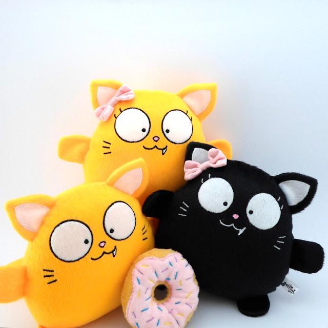 Gato Amarillo Niña peluche tierno juguete halloween kawaii suave regalo navidad decoracion bebe valentin cumpleaños dia guyuminos