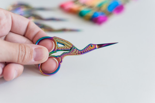 Prismatic stork scissors by Brynn and Co