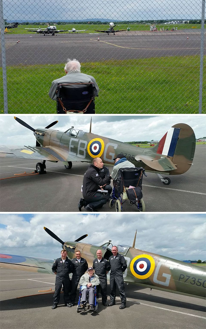 36 People's Heart-Breaking Last Wishes - Dying World War Two Engineer Gets Last Wish Granted: To Be Reunited With Iconic Plane, After Bosses See Him Staring Forlornly Through Fence From His Wheelchair