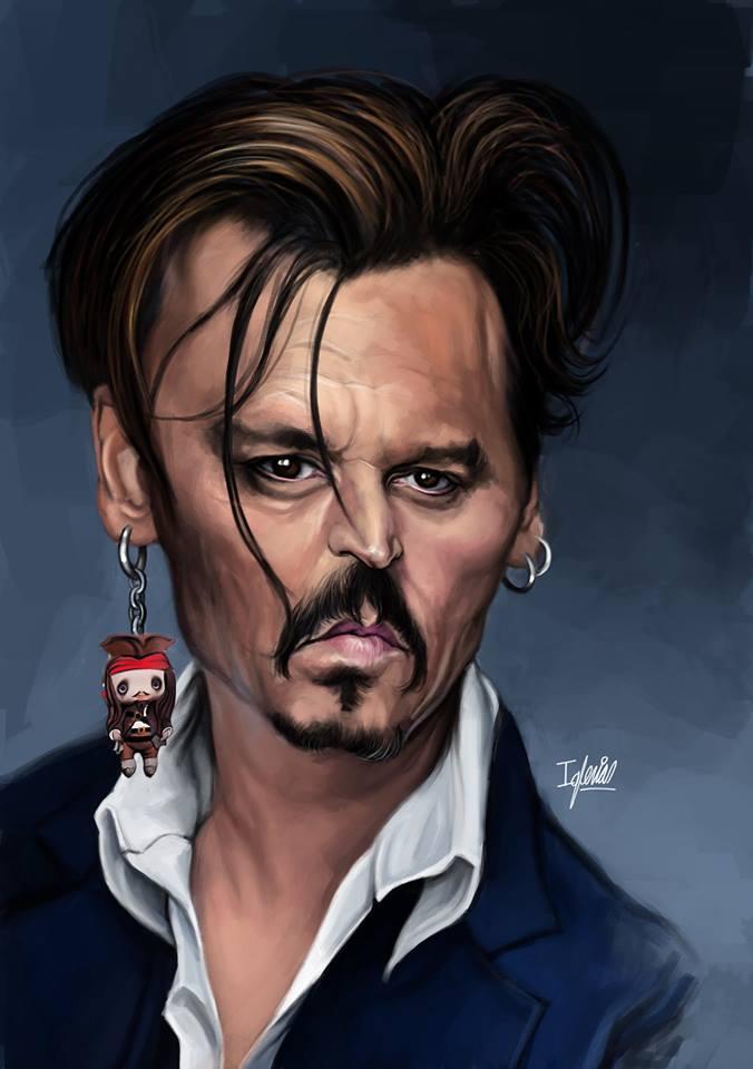 Johnny Depp por Raúl Iglesias