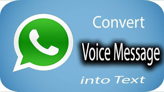 convert voice message into text