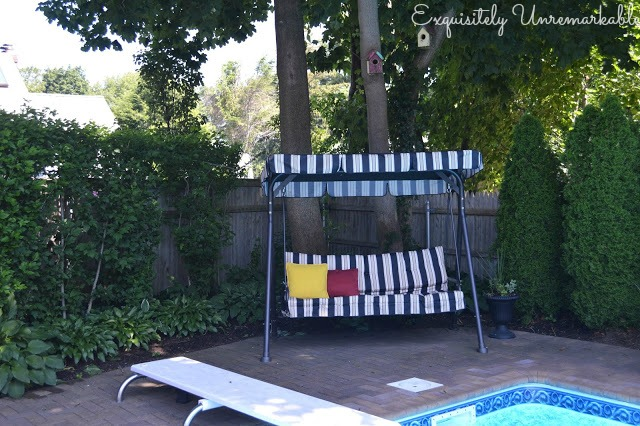 Standing Covered Swing in pool area