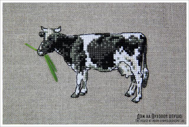 Вышивка корова DFEA
