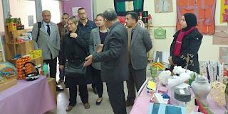 مسؤولون عن البنك الدولي يزورون مركز موارد التعليم الاولي بمديرية انزكان أيت مل