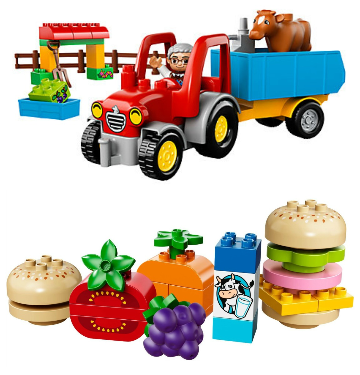 Lego Duplo Farm Tractor and Creative Picnic Sets