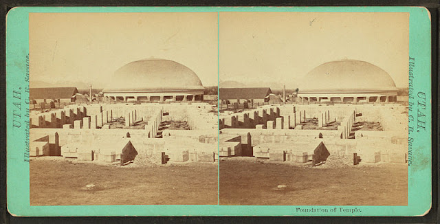 Foundation of Temple. Alternate Title: Utah. Charles Roscoe Savage. Medium: albumen print.
