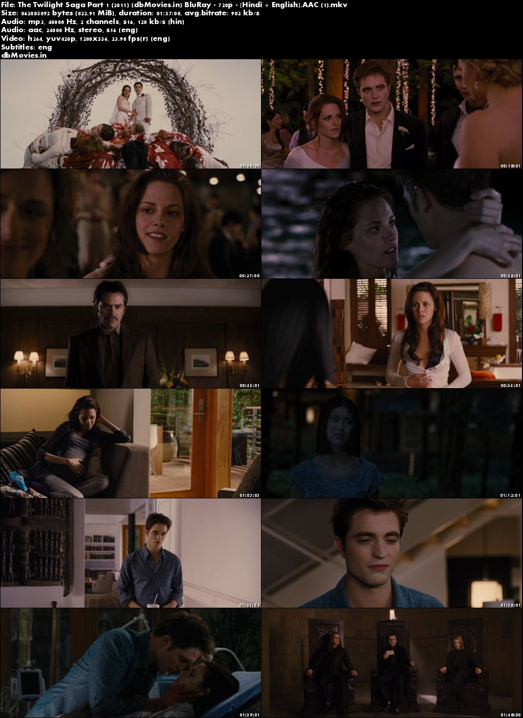 Screen Shots The Twilight Saga: Breaking Dawn - Part 1 2011 Dual Audio Hindi Download
