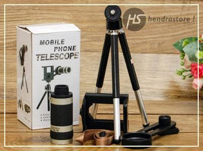 Telezoom 8x Murah - Lensa Kamera GRATIS Tripod For Smartphone
