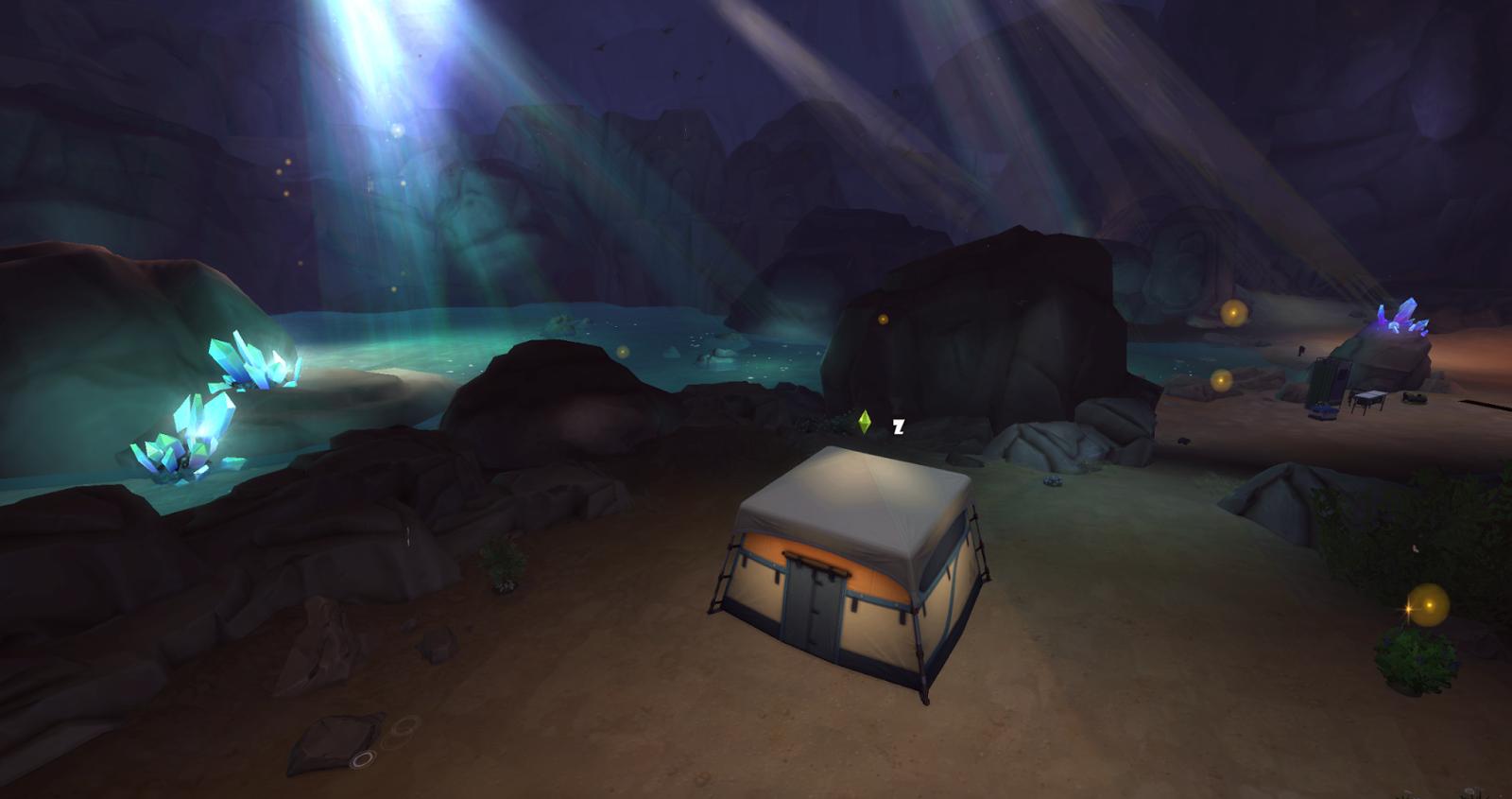 พื้นที่ลับใน The Sims 4 Forgotten Grotto