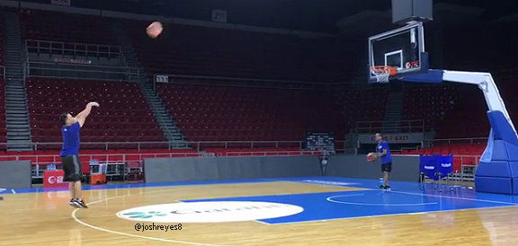 Gilas Pilipinas assistant coach Josh Reyes' Hot Hand from the Three (VIDEO)