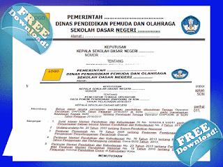 Contoh SK Operator Sekolah PAUD/ SD/ SMP/ SMA Update 2017