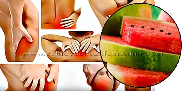 Alivia dolores musculares con sandía, la sandía es un analgésico eficaz para los dolores musculares después del entrenamiento.