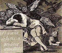 Resultado de imagen de el sueño de la razon produce monstruos