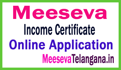 Meeseva Income Certificate Application Apply
