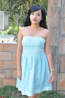 Sahana New cute Telugu Actress in Sky Blue Small Sleeveless Dress ~  Exclusive Galleries 040.jpg
