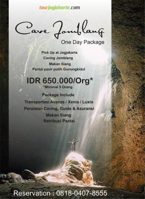paket wisata caving goa Jomblang Jogjakarta