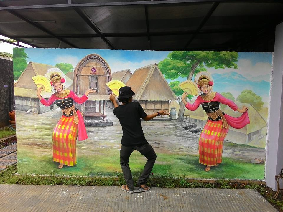 Mural jogja mural 3d trick art at lombok jogja painting for Mural yogyakarta
