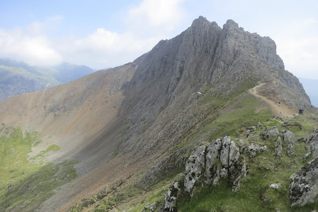 Mount Snowdon Horsehoe walk, via crib Goch Route, Pyg Track