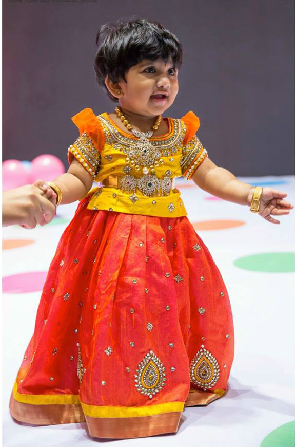 Lovely Kids Lehengas by Golden Threads –South India Fashion