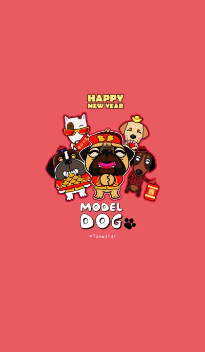 Model Dog Happy New Year