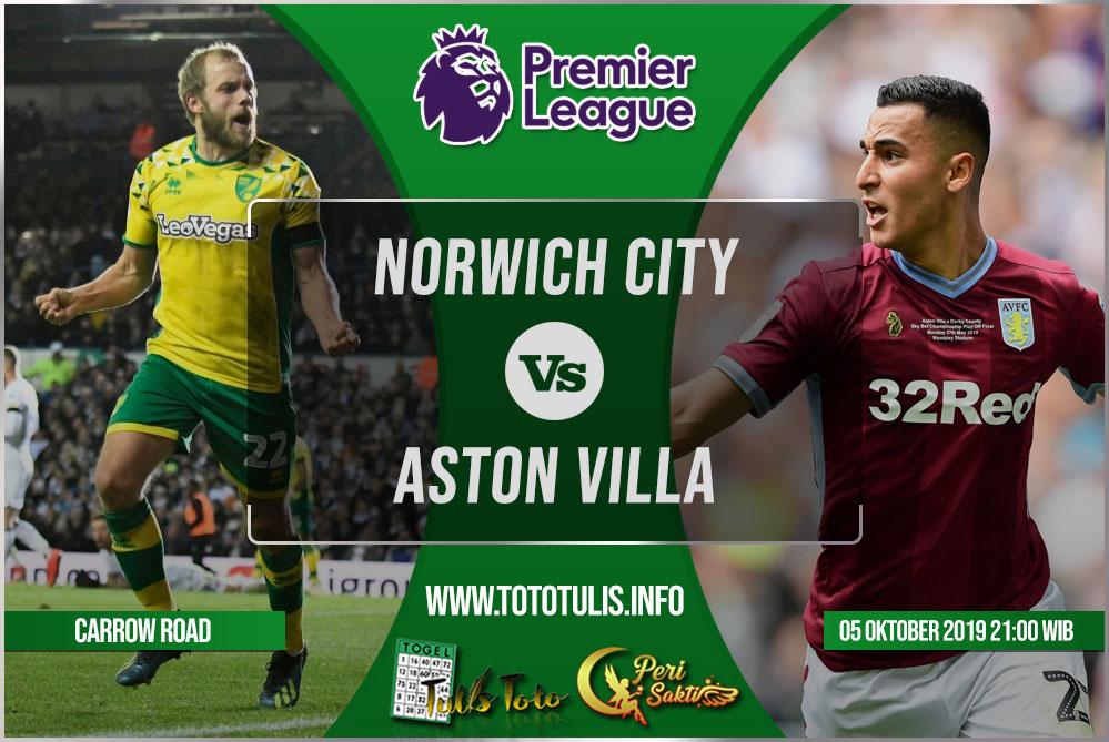 Prediksi Norwich City vs Aston Villa 05 Oktober 2019