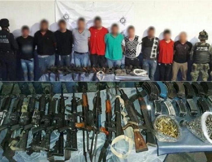 """Michoacán; Caen 10 de """"Los Viagras"""" con todo y arsenal"""