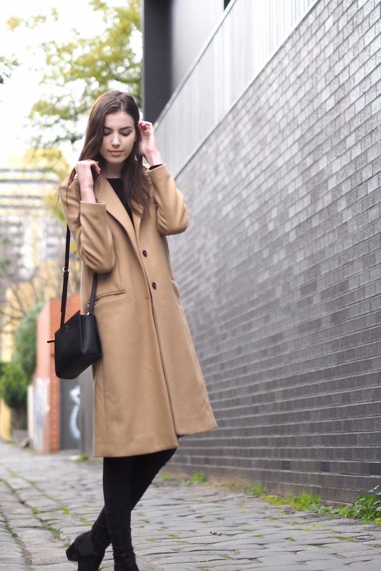 Melbourne fashion blogger wearing zara coat