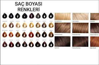 Saç Boyası renkleri
