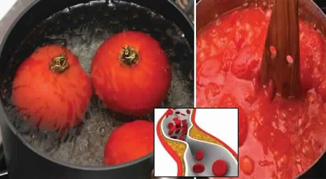 Tomate bouillie contre le cholestérol