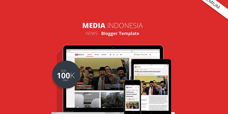Media Indonesia - Premium Blogger Template