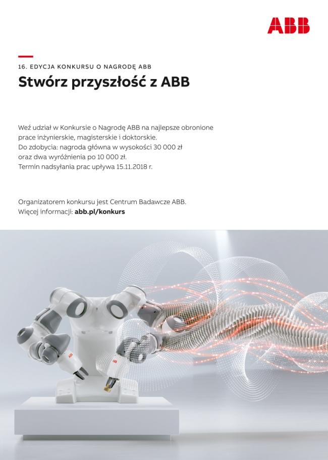 Konkurs o Nagrodę ABB - Edycja 2018/2019 - plakat