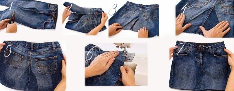 #2 Trasformare un paio di jeans in una gonna - Laboratorio ...