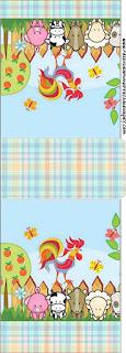 Etiqueta Tic Tac para imprimir gratis de La Granja Bebés en Celeste.
