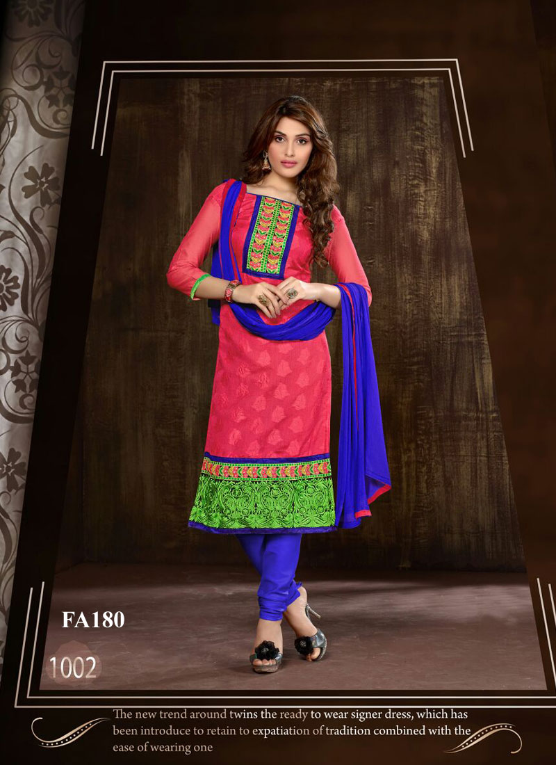 Pretty Lady 4 – Embroidered Cotton Salwar Suit Dress Material